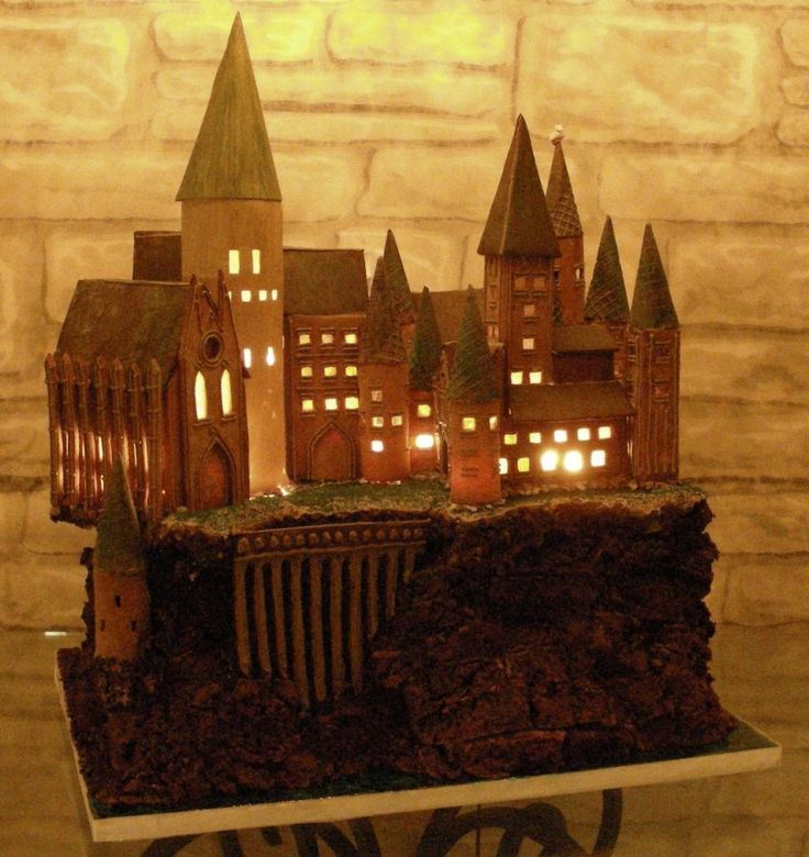 cake idea (this one is made of gingerbread and lights up...awesome!)
