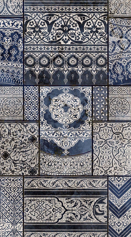 Carta da parati / Wall paper: INDIAN CARPET #Tecnografica #ItalianWallcoverings #cartadaparati #wallpaper #blu #blue #arredamentodinterni #interiordesign #design #cameradaletto #soggiorno #geometrico #vintage #orientale #art #india #ideas #bedroom #livingroom #geometric