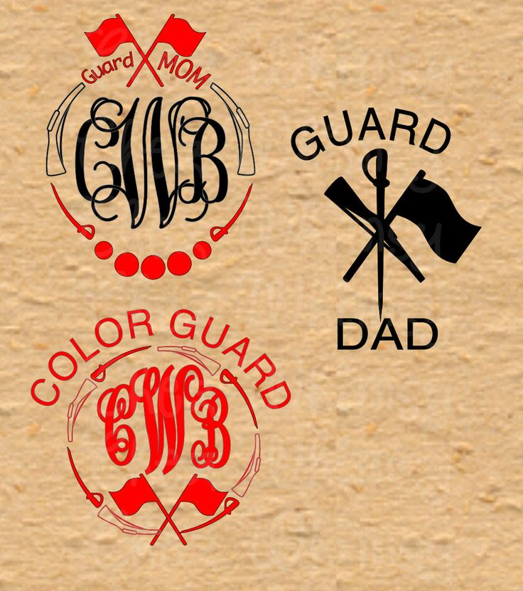 Color guard Monogram, Color Guard SVG, Guard SVG, Guard Dad, Guard Mom, Sabre, Rifle, Flag, Guard Svg Designs by ChezWhimsy on Etsy