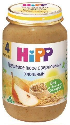 КАША HIPP (ХИПП) ЗЕРНОВЫЕ ХЛОПЬЯ С ГРУШЕЙ безмолочная 190 г