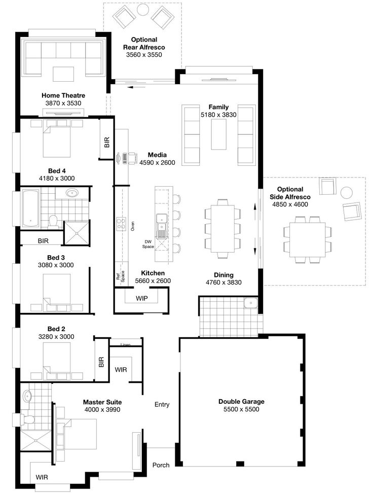 46 best House designs images on Pinterest   House design, Floor ...