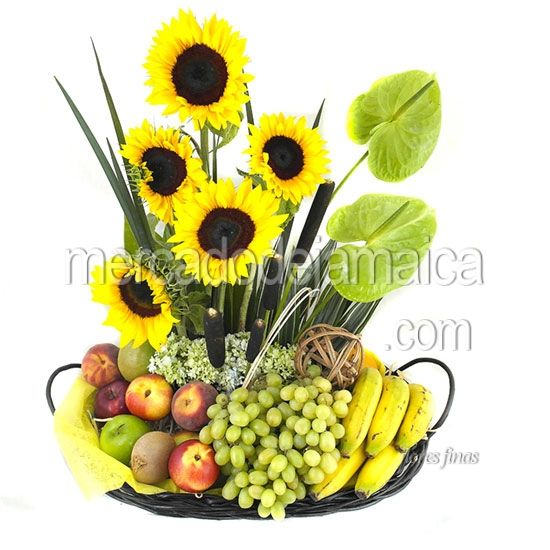 Mejores 34 im genes de arreglos florales de girasoles en - Frutas artificiales para decoracion ...