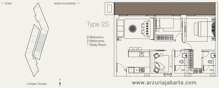 Type 2S Apartment Arzuria Jakarta