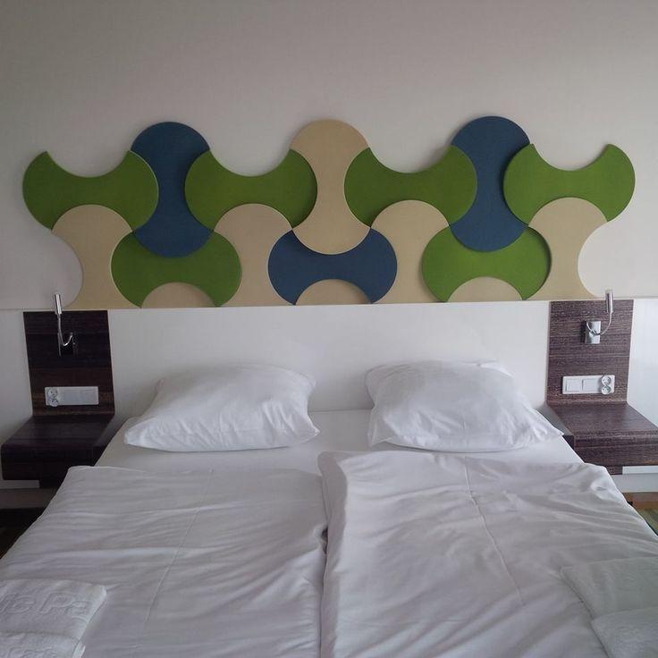 Realizacja. Mieszkanie prywatne. Panele Bounce w sypialni.