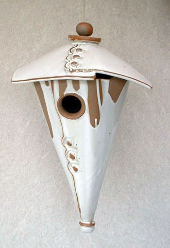 Google Image Result for http://www.smithgalleries.com/images/Clay/ConeBirdHouse.jpg