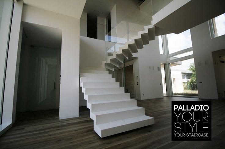Escalera abierta autoportante PALLADIO SAGOMATA ART SURFACE by Palladio Scale