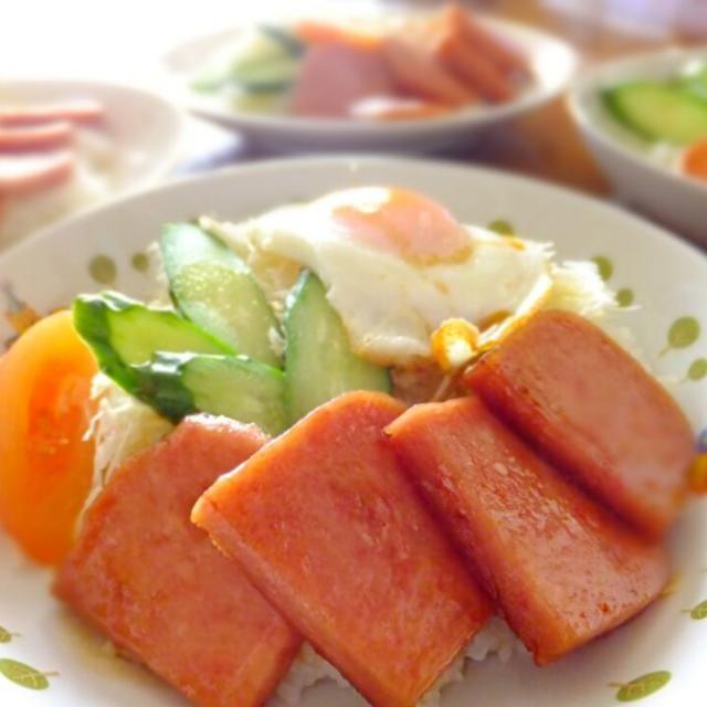 休日のランチにピッタリ - 5件のもぐもぐ - スパムの照り焼き丼 by chieco