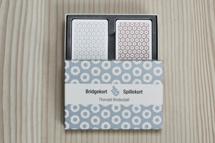 Bridge size playing cards with patterns by Thorvald Bindesbøll.