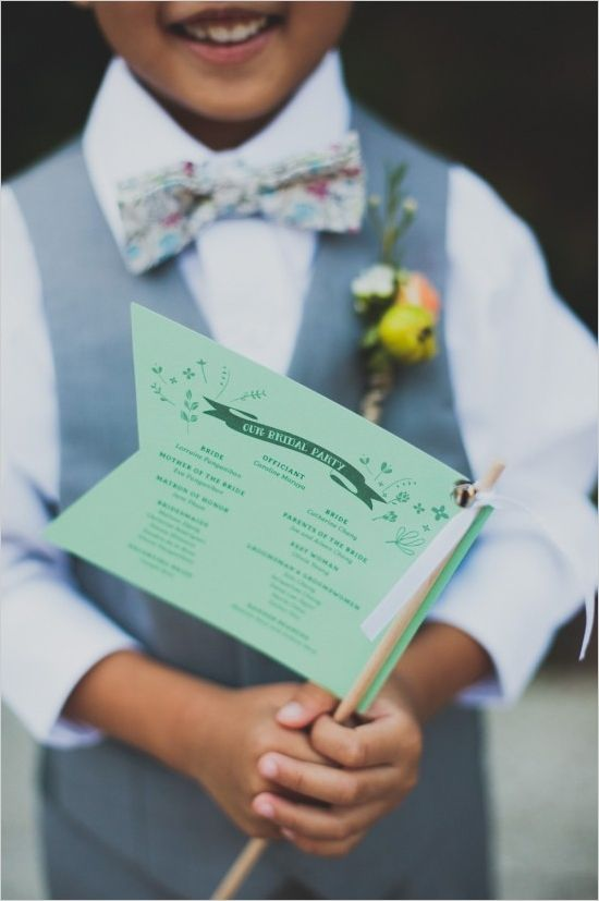 wedding program flags / Doubles as table assignment