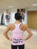 Big Red Apparel - Womens EAT CLEAN TRAIN DIRTY gym singlet vest PINK (siz (Medium) - http://trolleytrends.com/health-fitness/big-red-apparel-womens-eat-clean-train-dirty-gym-singlet-vest-pink-siz-medium