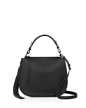 ALLSAINTS MORI LEATHER HOBO. #allsaints #bags #shoulder bags #leather #hobo #
