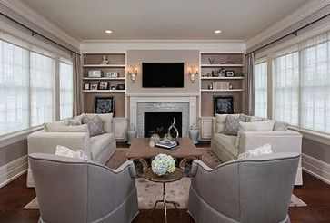 Living Rooms Fireplaces And Elegant Living Room On Pinterest