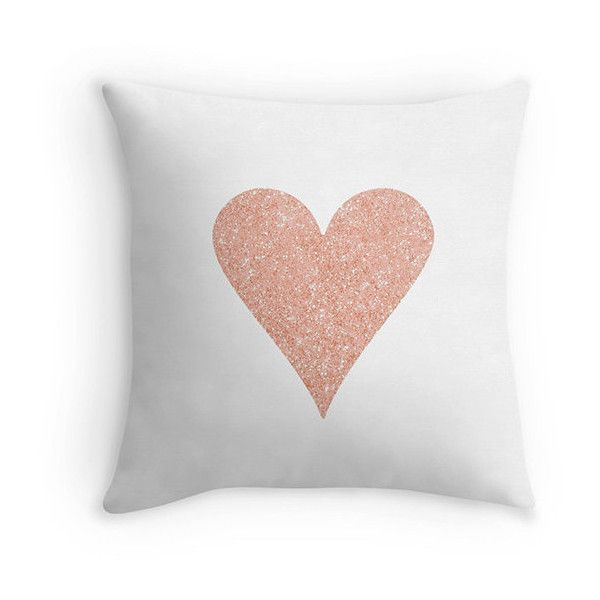 rose gold heart pillow decor pillow rose gold love 455 mxn
