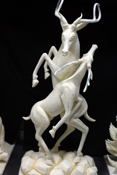 Turkish chef produces sculptures made of chocolate
