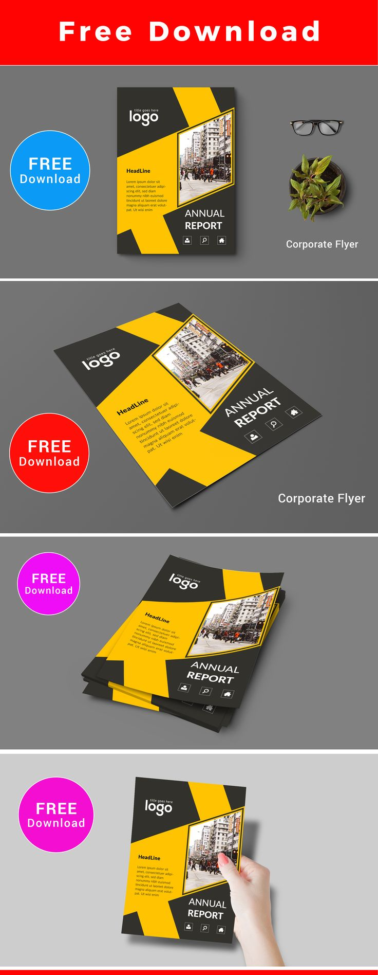 #free Download Flyer Template #template #download #free #stationary  #business #
