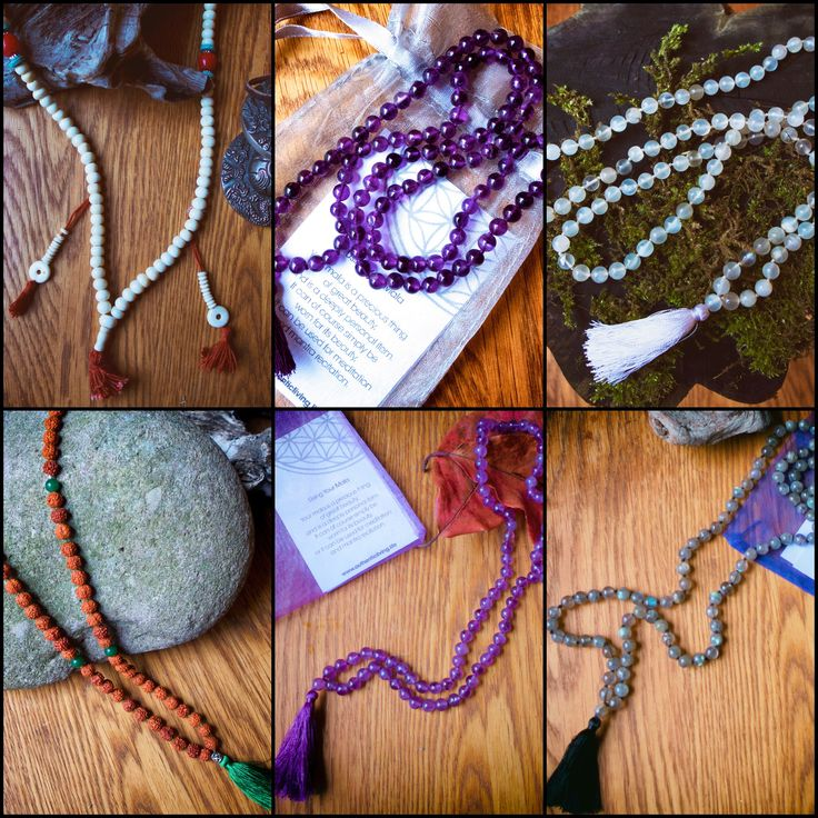 Our Wonderful Mala Range. Just a few of each left. Should go live in webshop on Monday. Clockwise from top left: Tibetan Yak Bone Small Dark Amethyst Moonstone Labradorite Amethyst Heart Chakra (Rudraksha & Green Onyx)  Been tough with winter light, but wanted to use natural light only.... Shop closes 16 Dec as I begin my annual 3 month personal retreat. Reopens March 6