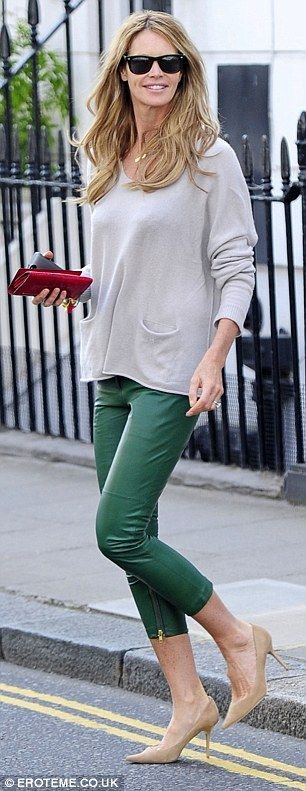 She's got style: The Australian model headed to the shops on Wednesday in heels and a baggy jumper