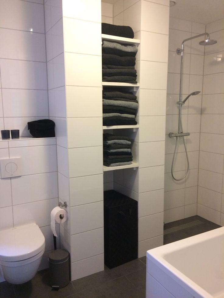 over Zwart Wit Badkamers op Pinterest - Familie badkamer, Badkamer ...