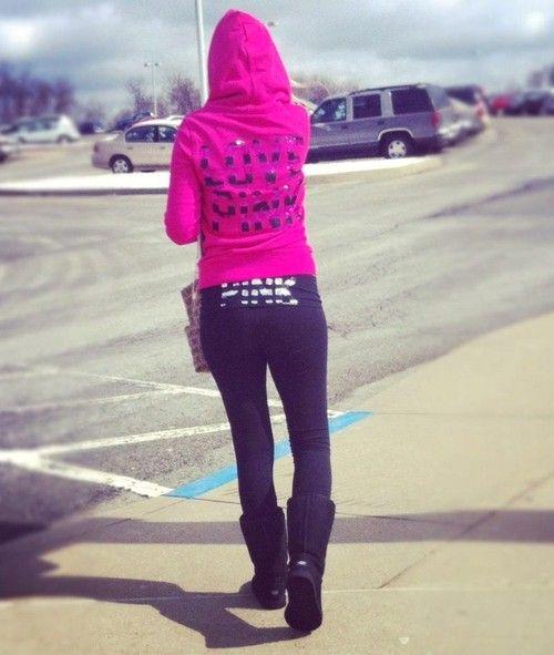 Im A Girl. I Love PINK Sweats, Yoga Pants, Uggs, And
