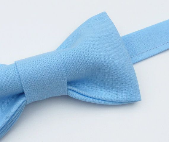 Pale Blue Bow tie for Men,  Blue Bow tie, Baby blue bow tie by FlyTiesforFlyGuys