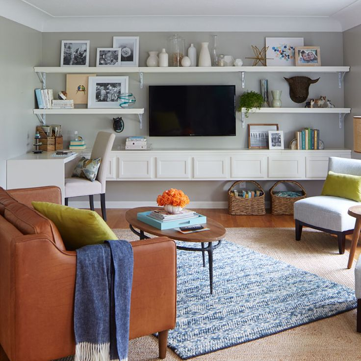 Lowe's Creative Ideas - DIY media center shelves