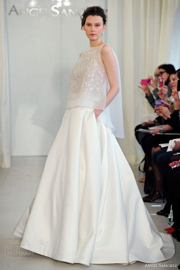 angel sanchez bridal 2014 wedding dress pockets separate