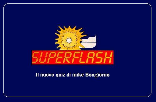 """logo del quiz """"Superflash"""""""