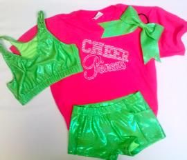 Lotta Choices Practice Wear  Package #4: Tees Colors, Sports Bras, Sport Bras, Hair Bows