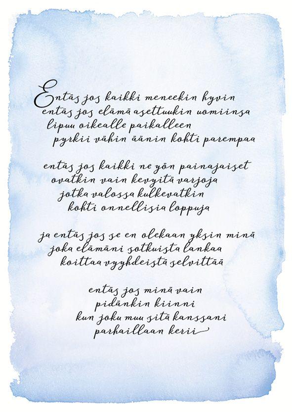 Elina Salminen Entäs jos runo