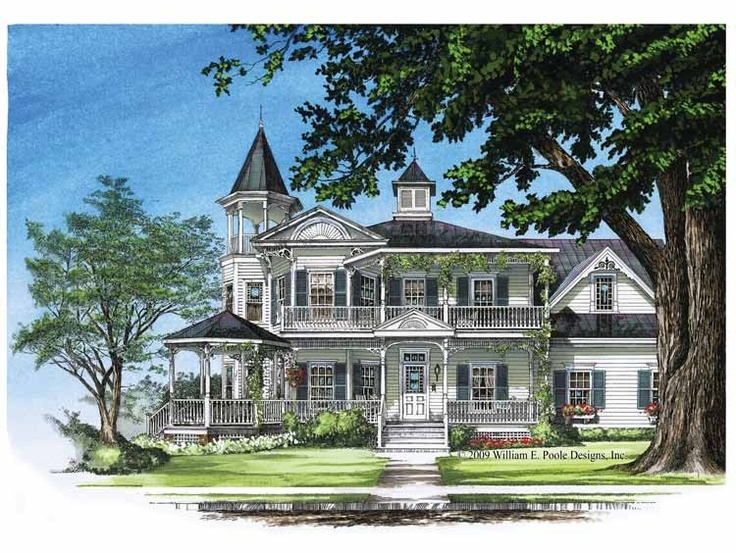 Queen Anne House Plan with 3131 Square Feet and 4 Bedrooms(s) from Dream Home Source | House Plan Code DHSW50368