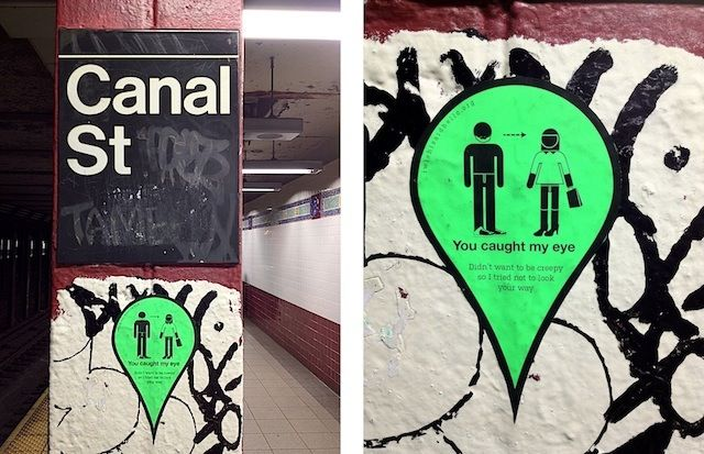 "Streetart Project: ""I Wish I Said Hello"" (6 Pictures) > Design und so, Fashion / Lifestyle, Installationen, Streetstyle, urban art > flirts, lifestyle, manhattan, missed connections, public art, too late"