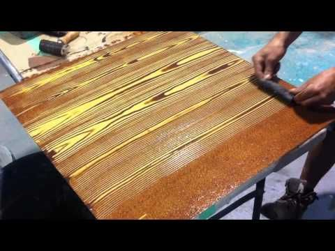 """Faux Oak Wood Grain Creative Painting Techniques - YouTube.  """"Paint X on back to keep from warping."""""""
