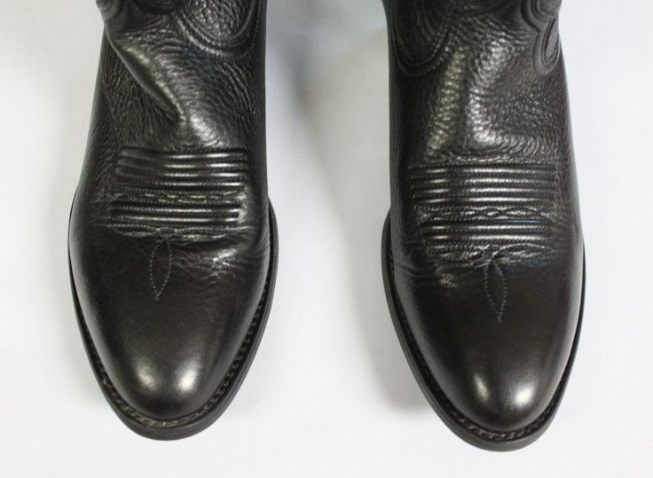 Ariat Cowboy and Western Boots.  Genuine Leather.  Black by EmmaLousResalePlace on Etsy