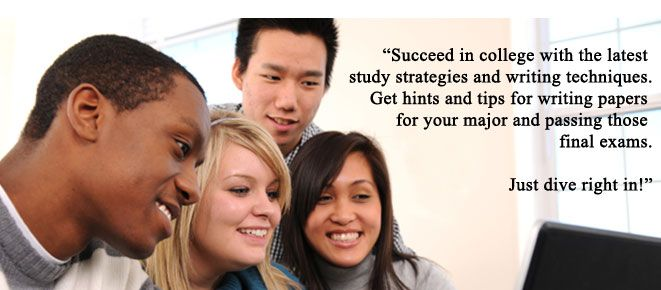 Succeed in college with the latest study strategies and writing techniques. Get hints and tips for writing papers for your major and passing those final exams. - How to Study dot org