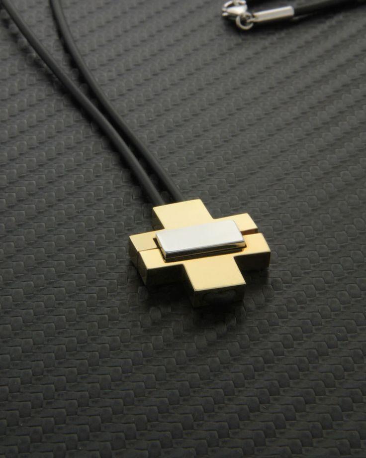 Σταυρός χρυσός & λευκόχρυσος Κ18