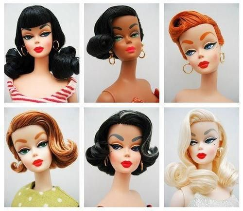 Best Fashion Dolls Hairstyles Images On Pinterest Barbie - Doll hairstyles barbie