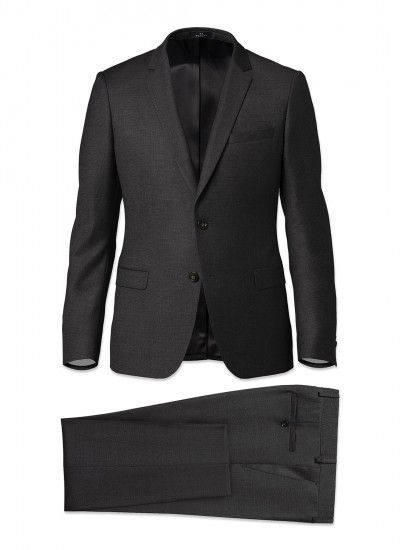 Costume slim fit - Laine Super 150's AAAAA - Gris anthracite - Caviar