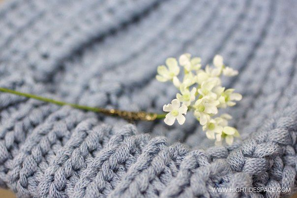 Brooch Сhervil silk