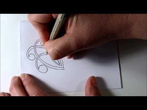 How I draw Mooka Tangle Pattern - Zentangle Inspired, Doodle, Zen Doodle - YouTube