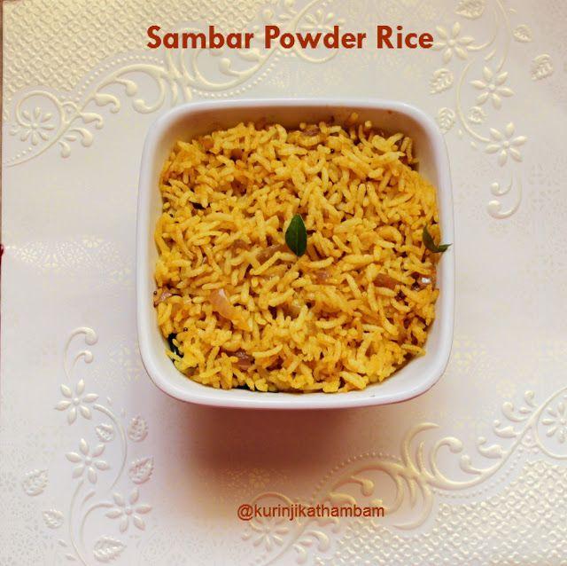 Sambar Powder Rice / Molagupodi Satham ~ Kurinji Kathambam