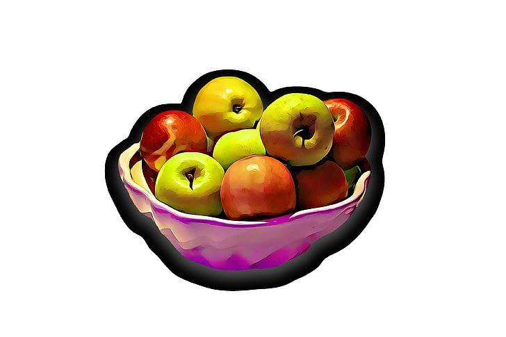 hasil mewarnai gambar apel