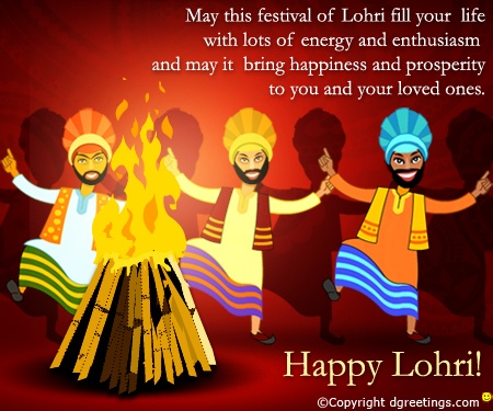 Dgreetings - Send your wishes on Lohri by this Card.