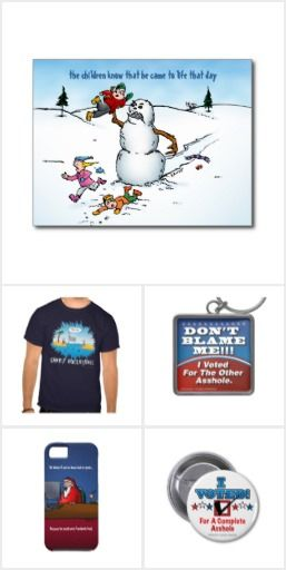 A collection of stuff from Bastardcard zazzle store, take a look at this store and see if you find something you like.