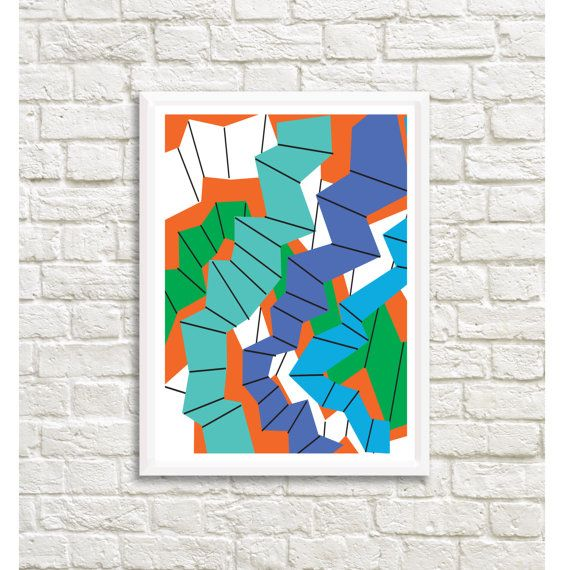 Modernist Inspired Colored Abstract Art 25x  by LittleLotusFlowers