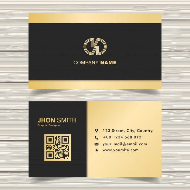 Black Gold Business Card Template Gold Business Card Business Card Template Business Cards