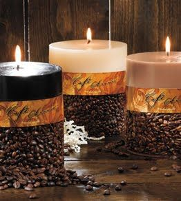 coffee bean candles...i want these for my home AND classroom!