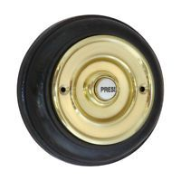 Bell Press / Push - 108mm Plinth Diameter + BRASS | Surface Mounted