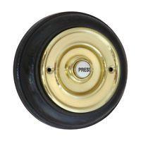 Bell Press / Push - 108mm Plinth Diameter + BRASS   Surface Mounted