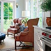 Love a small sitting area next to the kitchen.  BHG, Aging Gracefully: Sitting Area
