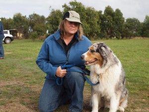 Cheryl Nagel volunteers as an Otways Conservation Dogs member with her Australian Shepherd, Zeke